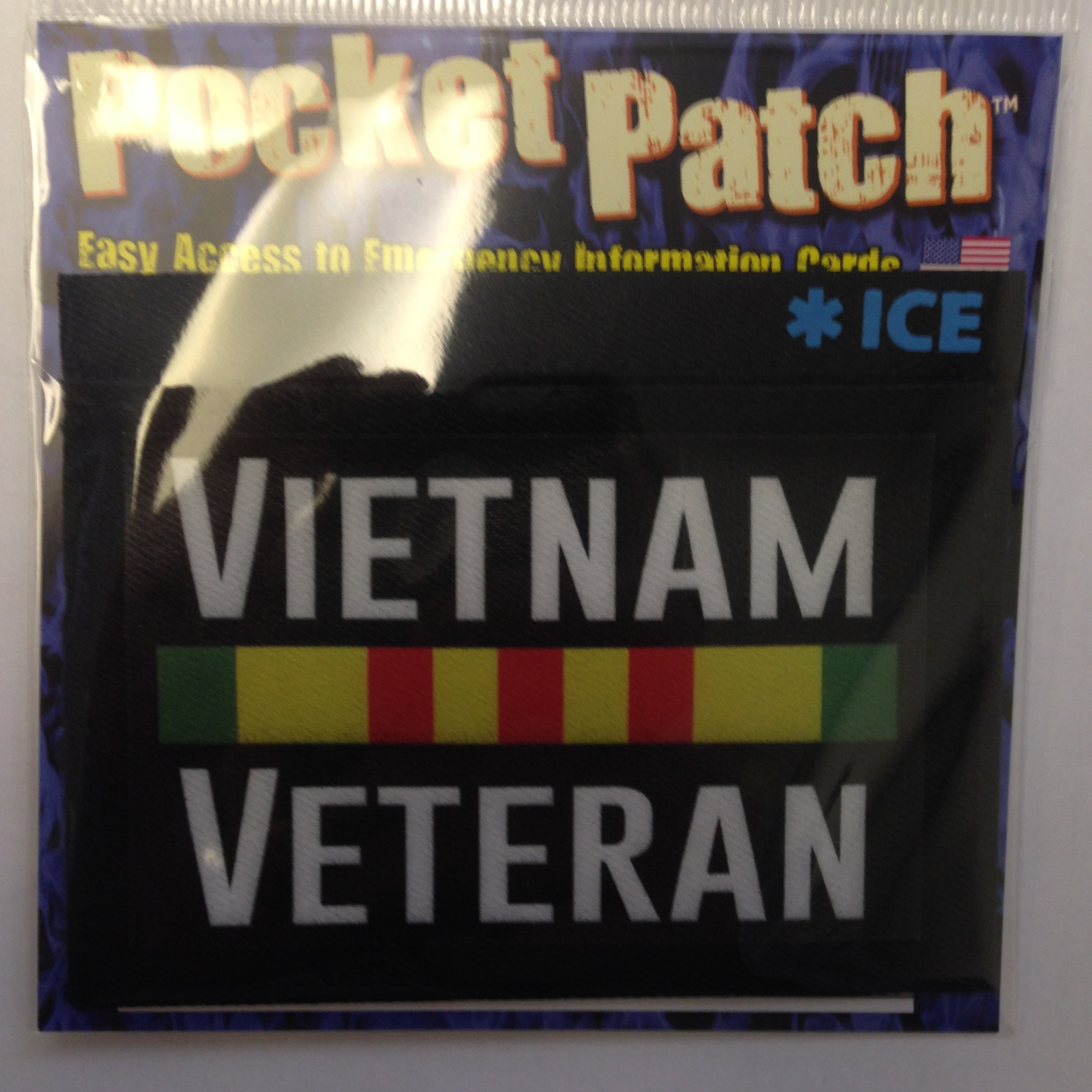Vietnam Veteran Pocket Patch w/ICE logo