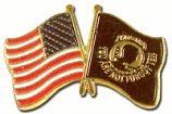 POW/MIA With USA Flag Pin