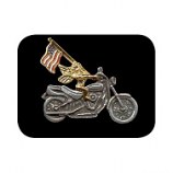 Motorcycle Angel With Flag Pin