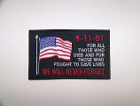 9-11-01 Never Forget w/USA Flag Patch