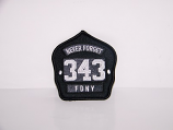 Never Forget 343 FDNY Patch