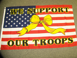 3' x 5' We Support Our Troops USA Flag