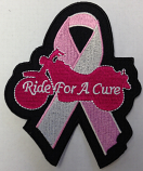 Ride for a cure ribbon patch