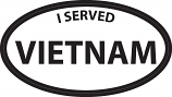 "I served Vietnam 3"" x 5"" Decal"