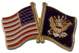 Navy With USA Flag Pin