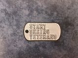 Start Seeing Veterans Dog Tag Embroidered Patch