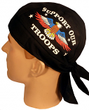 Support our Troops with Eagle Skull Cap