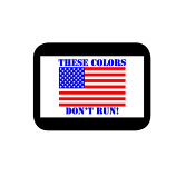 Colors Don't Run USA Window Cling