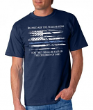 Blessed are the Peacemakers Thin Blue Line T-shirt