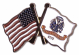 Army With USA Flag Pin
