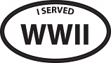 "I served World War II  3"" x 5"" Decal"